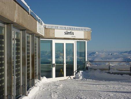Säntis, Snow, Mountains, Panorama, Switzerland Säntis