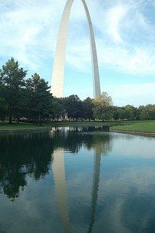 Gateway Arch, St Louis, Monument, Landmark, City, Usa