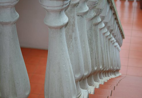 Staircase, Stairs, Steps, Red, Balustrade, Classic
