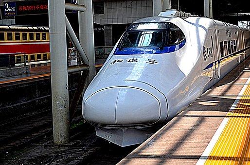 Train, Transportation, High Speed, Bullet, Chr, China