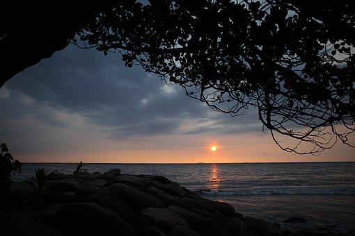 Padang Beach, Sunset, Indonesia, Beautiful, Travel