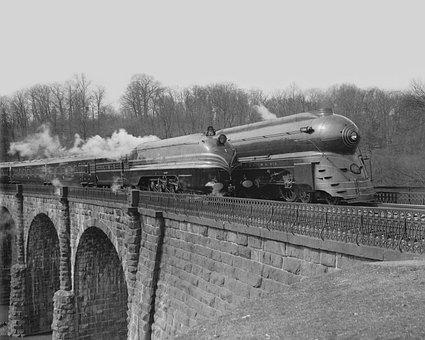 Railroad, Trains, Vintage, Transportation, Railway