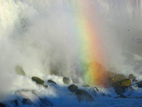 Niagara Falls, Rainbow, Waterfall, Canada, Ontario