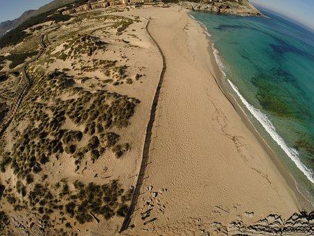Mallorca, Beach, Sand, Blue Water, Cala, Sea, Nature