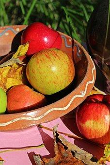 Apple, Casserole Dish, Garden, Harvest, Autumn, Mood