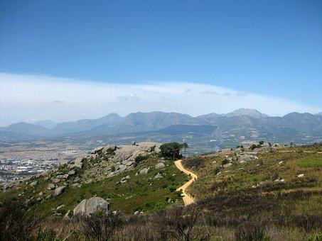 Track, Sandy, Dirt Road, Hill, Boulders, Rocks, Paarl