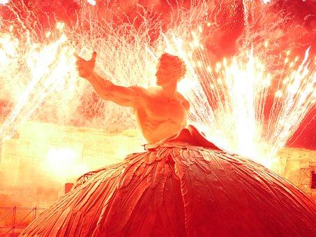 Opera, Fireworks, Angel, Hand, Santa Margarethen, Aida