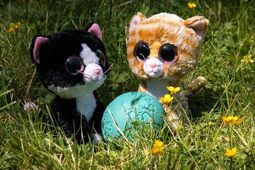 Glubschis, Stuffed Animal, Soft Toy, Cat, Kitten