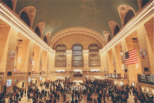 Grand Central Station, New York, Nyc, People, Crowd