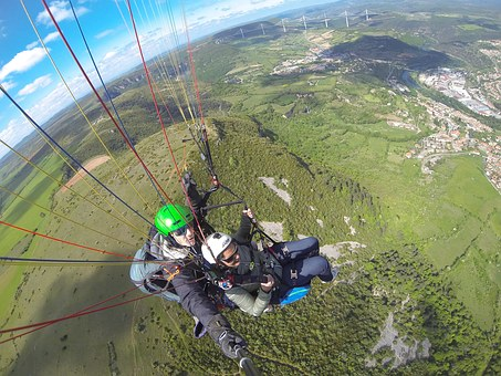 Paragliding, Milau, Bird's Eye View, South Of France