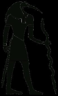 Silhouette, Drawing, Outline, Egypt, Pharaoh