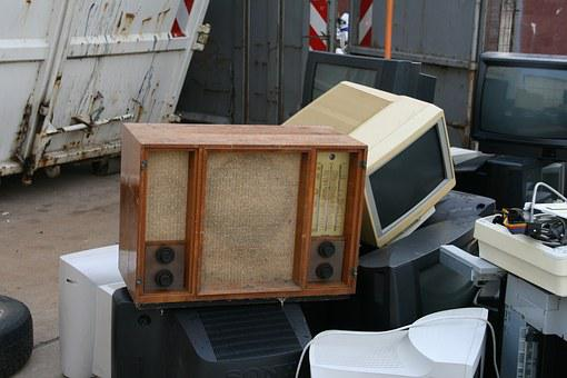 Old Radio, Scrap, E Waste, Recycling