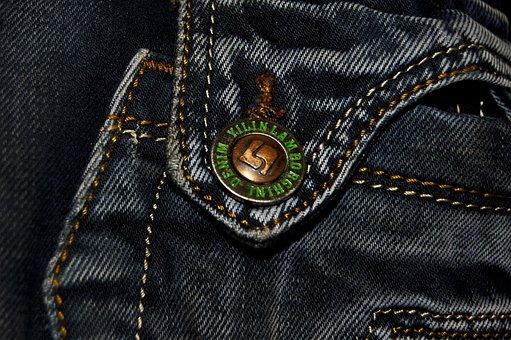 Fabric, Jeans, Button, Seam