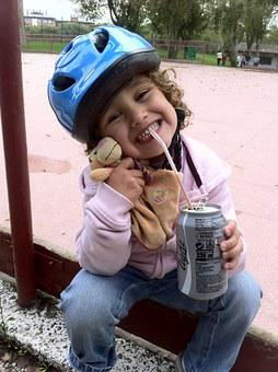 Girl, Sport, Cocacola, Drink, Child, Happy, Faces