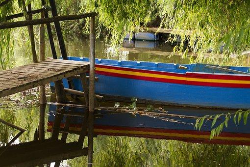 Escaropim, Boat, Pier, Stilts