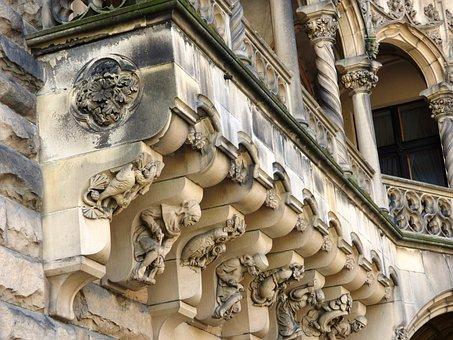 Sculpture, Castle, The Palace, Scrotum, Poland