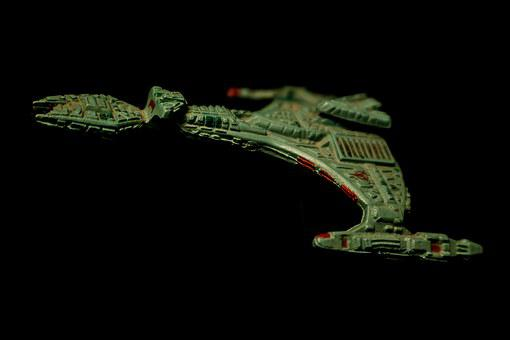Klingon, Battle Cruiser, Toy, Star Trek, Plastic