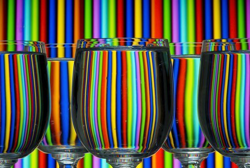 Glasses, Cups, Transparent, Water, Clear, Backgrounds