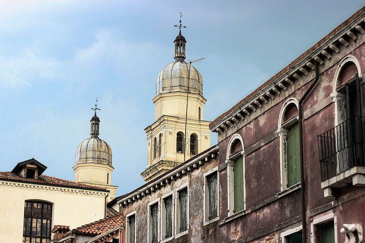 Venetian Architecture, Cupola, Church, Dome, Bell Tower