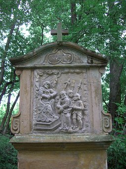 Way Of The Cross, Station 1, Sand Stone, Gad