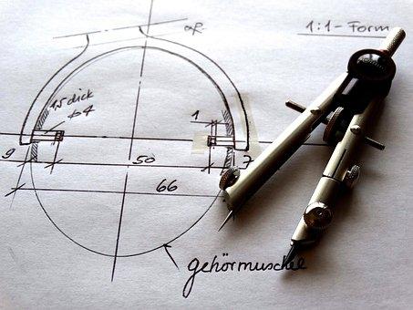 Sketch, Draw, Abstract, Zirkel, Technical, Design