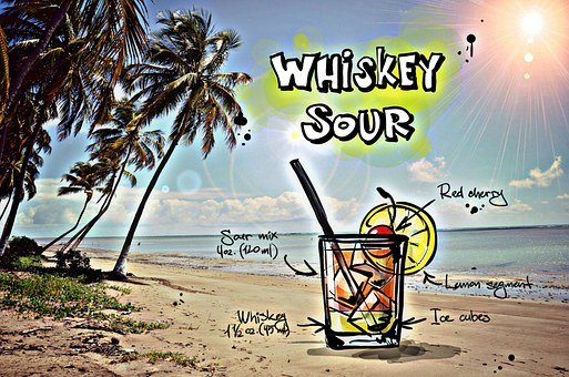 Whiskey Sour, Cocktail, Drink, Alcohol, Recipe, Party