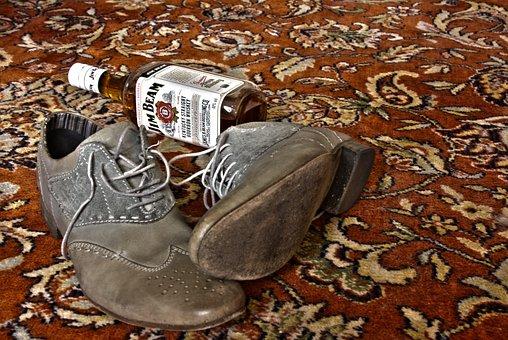 Whisky, Shoes, Carpet, Jim Beam