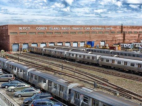 New York City, Transit Authority, Train, Cars, Railroad