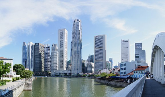 Singapore, City, Cities, Skyline, Urban, Skyscrapers