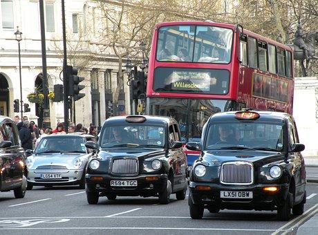 London, Car, Taxi, City, Uk, England, Travel, Urban