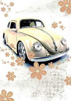 Driver's License, Vw Beetle, Beetle, Retro Card