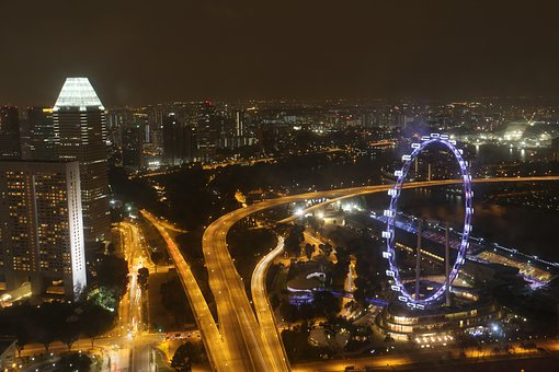 Singapore, Flyer, Ferris Wheel, Scenery