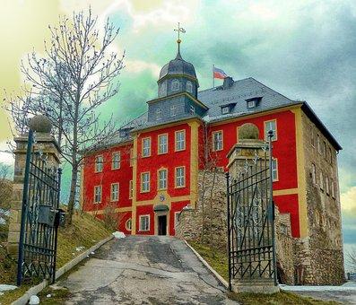 Ranis, Germany, Palace, Brandenstein, Mansion, Home