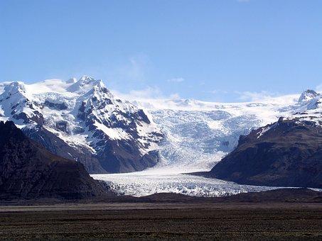 Iceland, Glacier, Snow, Volcanic Landscape, Landscape