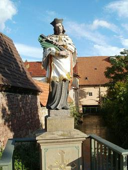 Statue, Martyr, St Nepomuk, Sculpture, Europe