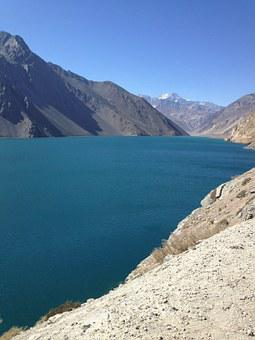 Mountain, Water, Landscape, Embase, Plaster, Chile