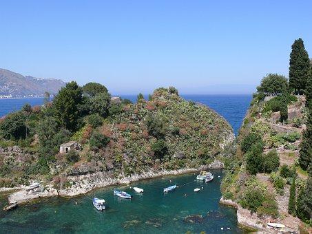 Sicily, Italy, Bay, Yacht, Nature, Sea, Islands