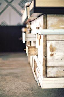 Old, Woods, Furniture, Drawer, Board, Vintage, Bar