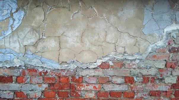 Wall, Bricks, Ošarpaná, Old, Plaster, Background