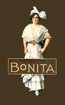 Bonita, Vintage, Poster, Woman, People, Person, Elegant