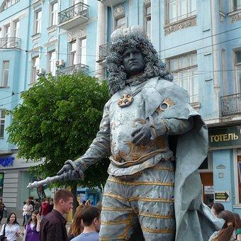 Man, Crowd, Buildings, Performing, Performance