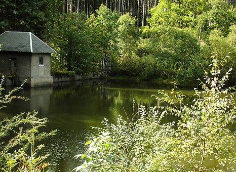Reservoir, Dam, Röthehenbachtalsperre, Water