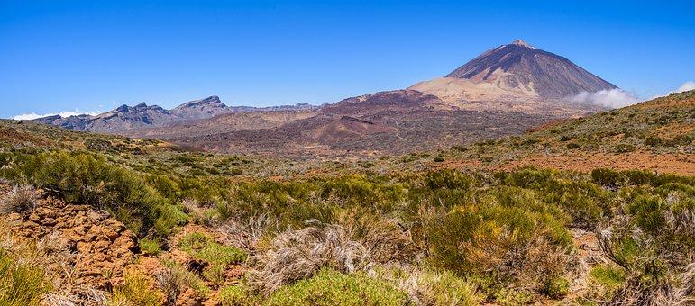 Teide National Park, Panorama, Volcano, Nature