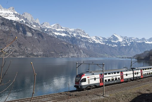 Mountains, Snow, March, Interregio, Train, Sbb
