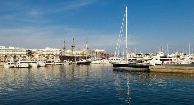 Port, Boat, Sea, Spring, Landscape, Europe, Valencia