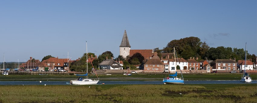 Bosham Harbour, West Sussex, England, Church, Quay