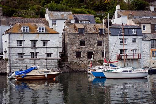 Fishing Harbour, Waterside Houses, Yachts, Reflections