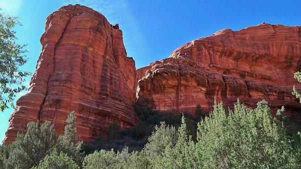 Sedona, Red Rock, Arizona, Landscape, Sky, Travel