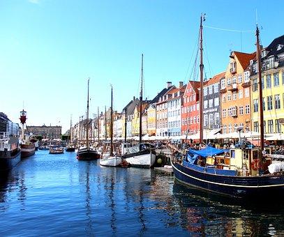 Denmark, Copenhagen, Port, Boat, Sea, Water, Boats