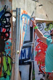 Graffiti, Spray, Wall, Spray Can, Colorful, Box